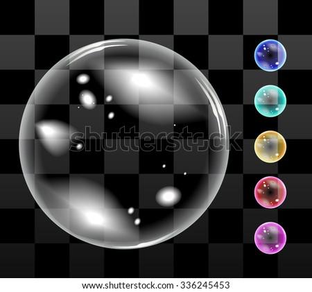 Bubble soap vector - stock vector