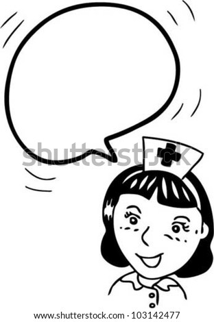 bubble speech from nurse - stock vector