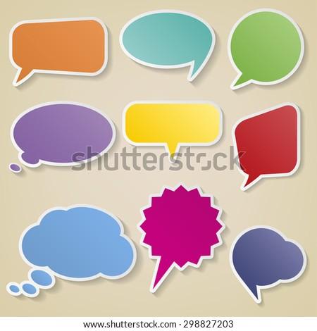 Bubbles for speech set. Vector illustration. - stock vector
