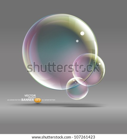 bubbles on a gray background - stock vector