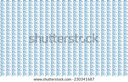 bubbles pattern background - blue - stock vector