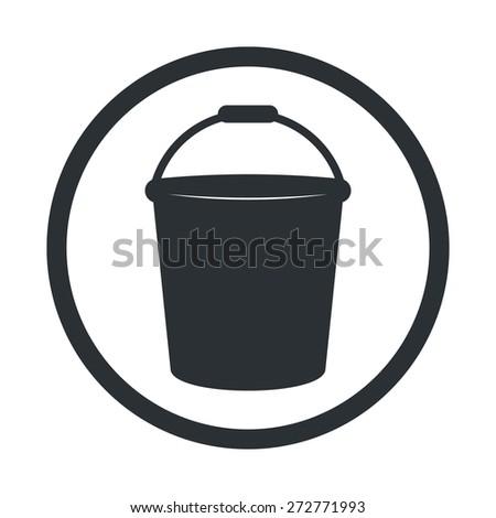 Bucket Icon Vector. Bucket Icon Simple. Bucket Icon Black.Bucket  Icon App. Bucket Icon Web. Bucket Icon Logo. Bucket Icon Sign. Bucket Icon Symbol. Bucket Icon Object. Bucket Icon Shape. - stock vector
