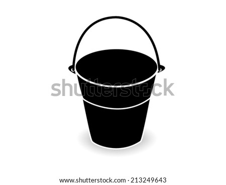 bucket on white background - stock vector