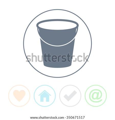 Bucket vector icon. - stock vector