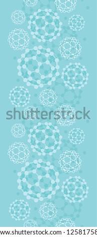 Buckyballs vertical seamless pattern background border - stock vector