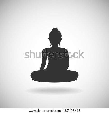 Buddha silhouette - stock vector