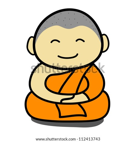 Stock Images similar to ID 112413734 - buddhist monk cartoon