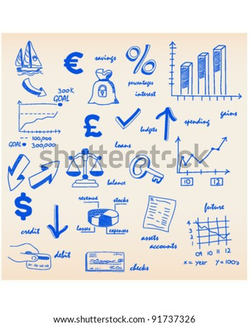 Budgets Financing Icons - stock vector