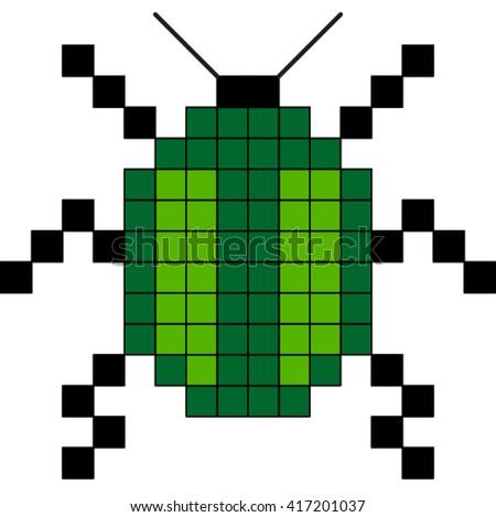 Bug, vector. - stock vector