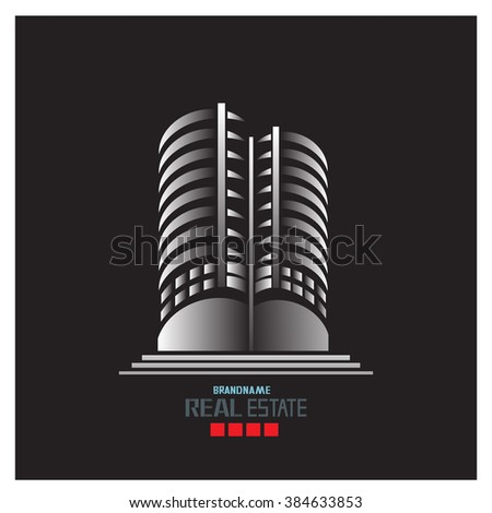 building abstract logo - stock vector