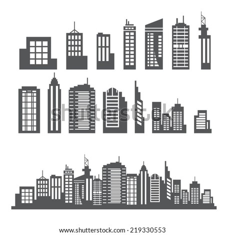 Building Collection - stock vector