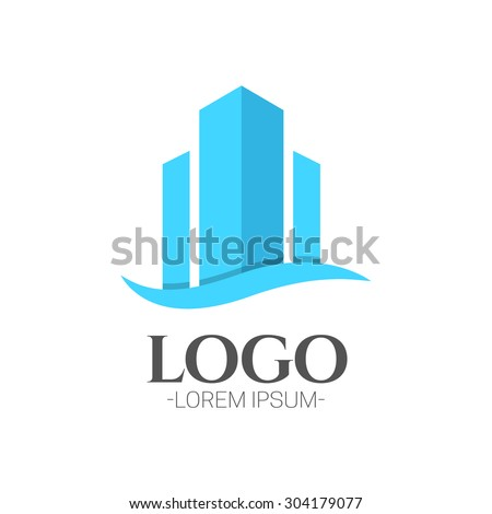 Building concept vector logo design template.Creative business symbol. Building abstract icon. Corporate sign. - stock vector