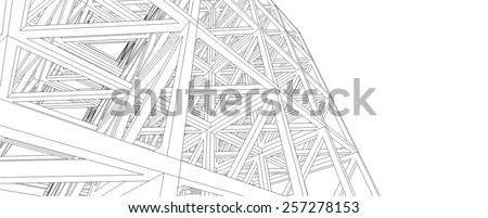 Building 3d structure. Architectural background.  - stock vector
