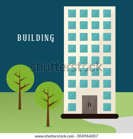 Building digital design, vector illustration 10 eps graphic - stock vector