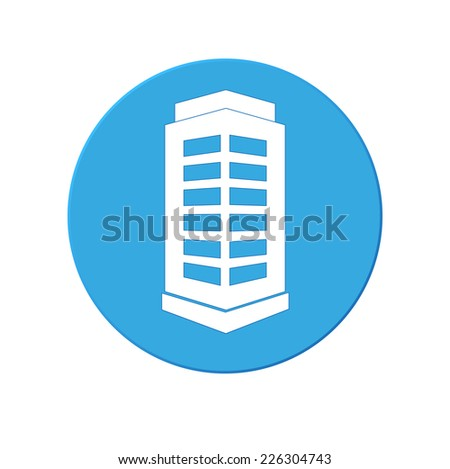 building icon isolated on a white background - stock vector
