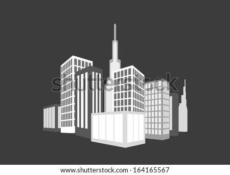 Building Icons Set. Vector illustration. - stock vector
