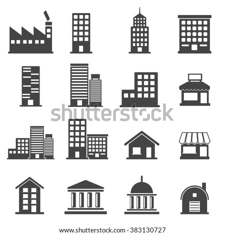 building icons . vector illustration - stock vector