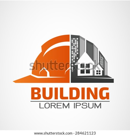 Building logo,architecture building vector logo design template. Skyscraper real estate business theme icon.  - stock vector