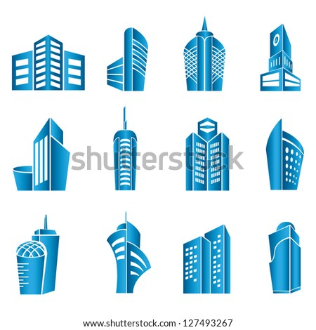 building set - stock vector