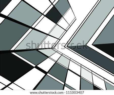 building vector - stock vector