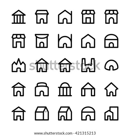 Building Vector Icons 6 - stock vector