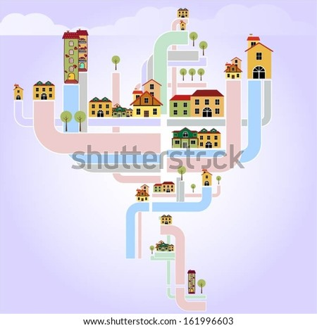 Buildings design vector. - stock vector