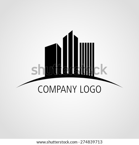Buildings icon for company logo - stock vector