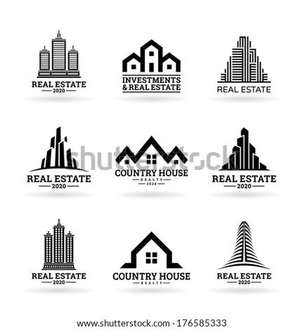 Buildings. Real estate (8) - stock vector