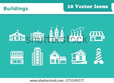 Buildings Vector Icons - stock vector