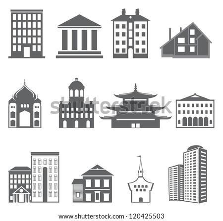 Buildings. Vector set - stock vector