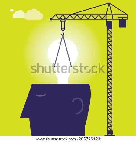 Bulb Crane - stock vector