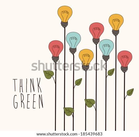 Bulb design over gray background, vector illustration - stock vector