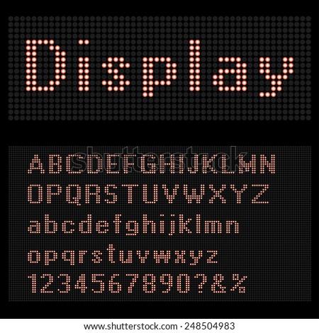 Bulb font vector illustration. - stock vector