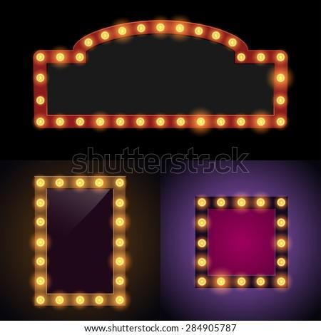 Bulb frames - stock vector