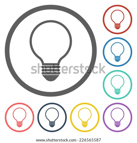 bulb icon - stock vector