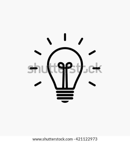 Bulb icon vector.   - stock vector