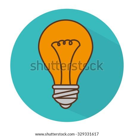 Bulb idea icon graphic design, vector eps10 - stock vector
