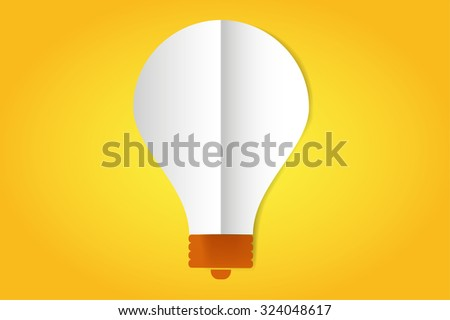 Bulb lamp flat style isolated. Glowing glass lamp with shine color. Lamp vector, lamp silhouette, lamp isolated, lamp vector bulb, lamp icon. Creative idea, creative concept, brainstorm, thinking - stock vector