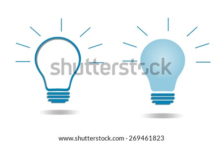 Bulb light icon - stock vector