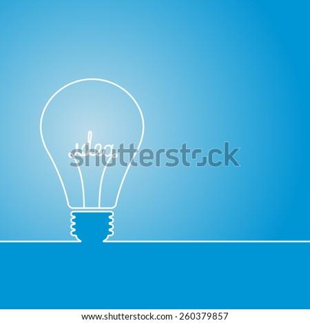 Bulb light idea - stock vector