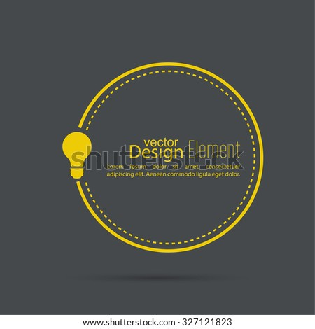 Bulb light idea. concept of big ideas inspiration innovation, invention, effective thinking. text. Speech Bubbles and Chat symbol.  - stock vector