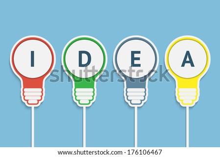 Bulbs idea vector illustration - stock vector