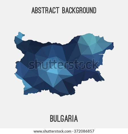 Bulgaria map in geometric polygonal style.Abstract tessellation,modern design background. Vector illustration EPS8 - stock vector