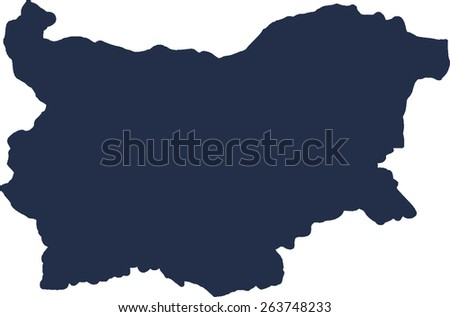 Bulgaria Vector map. High detailed.  - stock vector