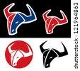 Bull emblem - vector illustration - stock vector