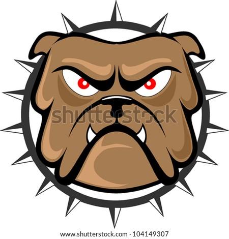 Bulldog head - stock vector