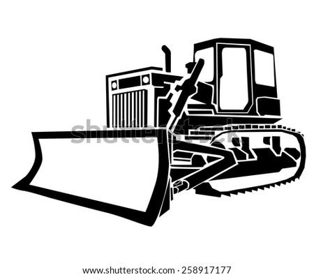 Bulldozer - stock vector