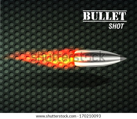 bullet background concept. vector illustration - stock vector