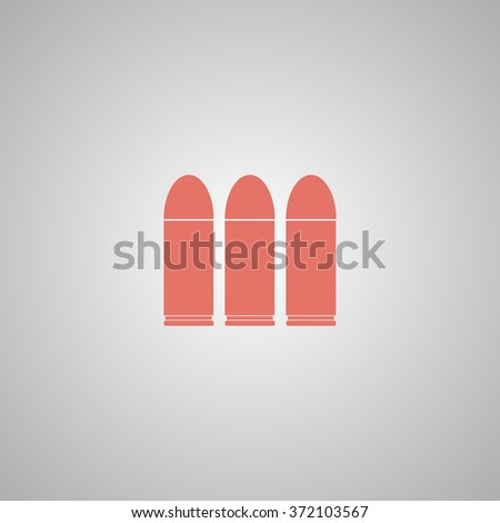 bullet icon. Flat design style eps 10 - stock vector