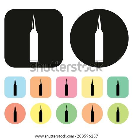 Bullet icon. Military icon. War icon. Vector - stock vector